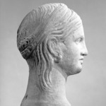 Half-Head of a Goddess (probably)
