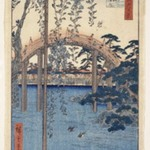 Inside Kameido Tenjin Shrine, from One Hundred Famous Views of Edo