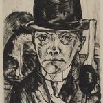 Self-Portrait in Bowler Hat (Selbstbildnis mit steifem Hut)
