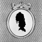 Silhouette: Bust of Woman With Tall Coiffure Facing Right