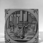 Delft Tile of Religious Scene