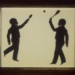 Silhouette of Master Colin Gibb and Charles Gibb