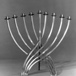 Hanukah Menorah, Candle Holder