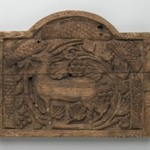 Panel with Ibex, Fish, and Grapevines