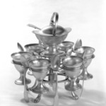 Egg Stand with Egg Cups and Spoons