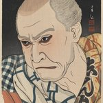 Actor Onoe Matsunosuke IV as Nozarashi Chobei, from the series Collection of Portraits by Shunsen