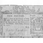 Ten Pound Note Printed on Rag Paper