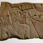 Temple Relief of a King as a Child Protected by a Goddess
