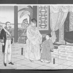 Illustration of the Meeting with Taewongun at the Korean Royal Palace (Chosen ojo Tai-in-kun sanden no zu)