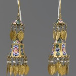 Two-Tiered Enamel Earrings