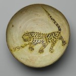 Bowl Depicting a Cheetah