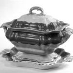 Tureen with Cover and Stand (Tray)