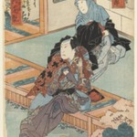 The Actors Nakamura Shikan and Sawamura Kintaro in Unidentified Roles