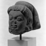 Head of a Goddess with High Headdress
