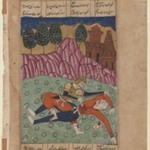 Foroud Slays a Foe, Leaf from a Dispersed Shah-nama Series