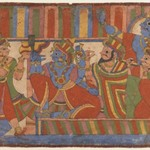 Krishna Counsels the Pandava Leaders, Page from a Mahabharata series