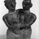 Sawankhalok Figure of a Seated Couple with a Child