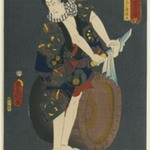 "The Actor Kawarazaki Gonjuro I (1838-1903) as Osarabakuzo Denji, from the series ""Thieves in Designs of the Time"""