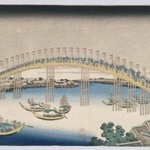 The Tenman Bridge in Settsu Province, from the series Remarkable Views of Bridges in Various