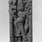 Architectural Fragment Depicting Shiva in a Pillared Niche