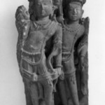 Framing Fragment of a Larger Stele with Two Standing Male Figure