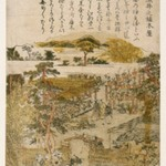 Gardens of Somei, from an untitled series of Famous Places in Edo