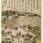 Susaki Benten Shrine, from an untitled series of Famous Views of Edo