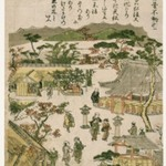 Mejiro Fudo Shrine, from an untitled series of Famous Places in Edo