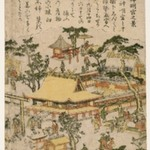 View of Shiba Shinmei Shrine, from an untitled series of Famous Places in Edo