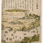 View of Takanawa at the Shinagawa Entry, from an untitled series of Famous Places in Edo