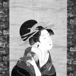 Hanging Scroll: Bust Portrait of a Courtesan