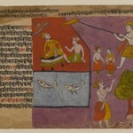 Balarama Pulling Hastinapur toward the Ganages, Page from a Bhagavata Dasamskanda series
