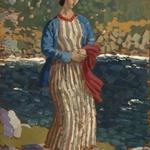 Woman by a Riverbank