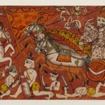 Battle Scenes from a Bhagavata Purana Series