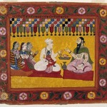 Nanda Requests a Horoscope for Krishna, Page from a Bhagavata Purana series