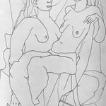 Untitled (Two Seated Female Nudes)