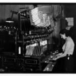 [Untitled]  (Woman at Threading Machine)