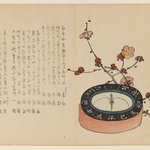 Compass and Branch of Flowering Cherry