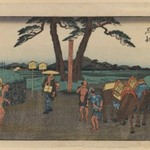 Ishibe, from the series Fifty-three Stations of the Tōkaidō Road