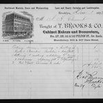 Original Bill of Sale from T. Brooks & Co.