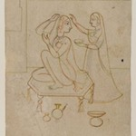 Radha at her Toilette