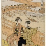 Hazy Morning Sunlight at Ryoguku, from the series Elegant Eight Views of Edo
