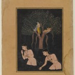 Gopis Bathing (Miniature Painting)