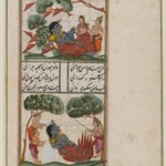 Krishna Battles the Demoness Putana, Page from an Unidentified Hindu Manuscript