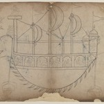 Line Drawing of a Fanciful Boat