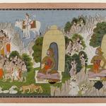 Arjunas Penance, Scene from a Mahabharata Series