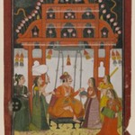 Hindola Raga, Page from a Dispersed Ragamala Series
