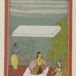 Nayika Awaits Her Lover, page from a series illustrating the Rasikapriya of Keshavadasa