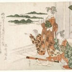 Beauties Looking at the Sea in Early Spring, from Contest of the Immortals of Poetry (Kasen awase)