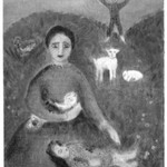 [Untitled] (Family Group in Landscape with Lambs)(recto) and [Untitled] (Figures) (verso)